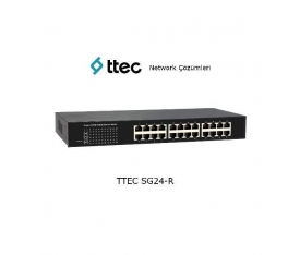 ttec Switch SG24-R, 24-port 10/100/1000M Gigabit Ethernet, Rack Tipi Tak Çalıştır Switch